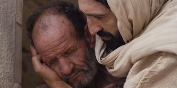 Screenshot from the film The Gospel of Mark