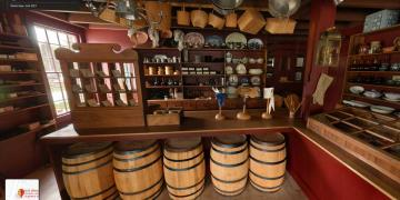 Google Street View of the interior of the Newel K. Whitney Store.